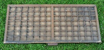 Vintage Wooden Typecase Tray Draw Letterpress printer # adana  8x5 user #