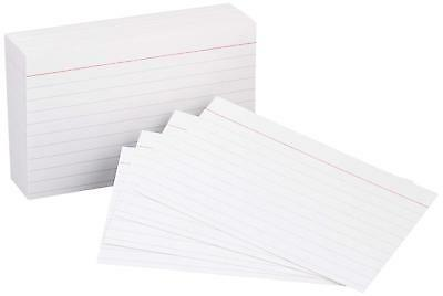 Heavy Weight Ruled Index Cards, White, 3x5-Inch,100 pieces Count Note Cards Pads