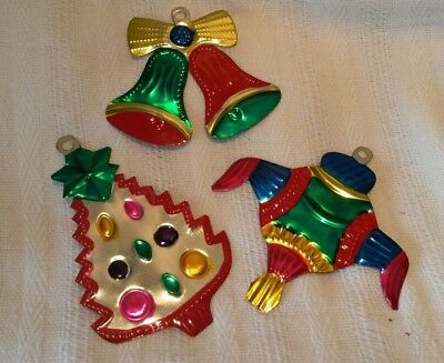 3 Mexican tin decoration Christmas