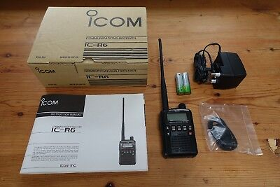 Icom IC-R6 Compact Wideband Receiver Scanner  boxed **Free P&P**