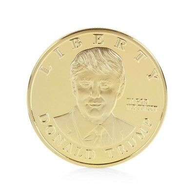 1 oz Donald Trump round Gold Plated coin. Uncirculated
