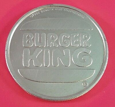 VINTAGE 1982 BURGER KING FREE Beverage coin / token  - SHIPS FREE