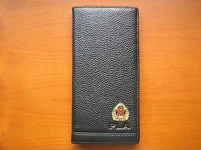07's series China PLA Army Badge Officer Genuine Leather Wallet,C