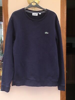 Lacoste Navy Blue Sports Tennis Crocodile Sweatshirt
