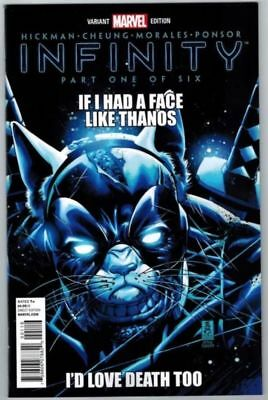 INFINITY #1 By Hickman MARVEL NOW Deadpool Cat Variant INFINITY PART ONE
