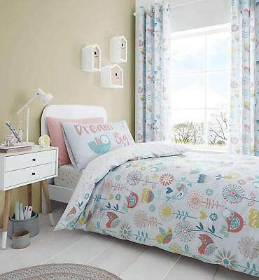 Catherine Lansfield Little Birds Easy Care Quilt/Duvet Cover Bedding Collection