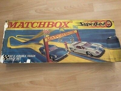 Matchbox Superfast Rennbahn SF-5 Double Track Race Set