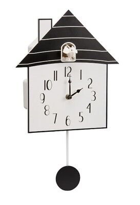 Modern Cuckoo Bird House Clock - Volume control / Silent mode - New