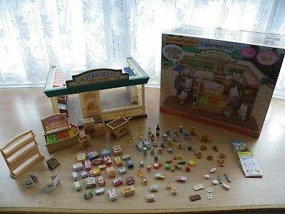 Sylvanian Families Supermarket with Extras in Box - Immaculate Condition