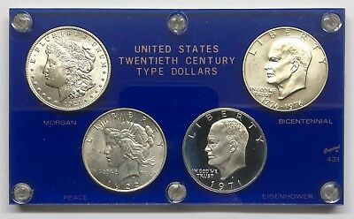 1921-1976 Us 20Th Century Silver Dollar Set Coin Set In Holder