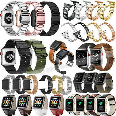 Replacement Silicone/Leather Band Strap for Apple Watch Series 4 3 2 1 40mm/44mm