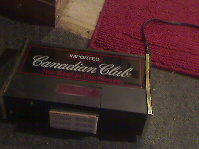 vintage canadian club whiskey lighted clock