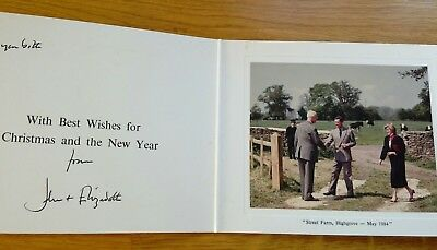 Royal Christmas card Prince Charles and Diana 'from John and Elizabeth