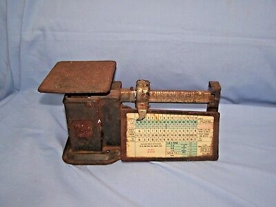 Vintage Post Office Postage Scale 5 Cent First Class 8 Cent Air Mail As Found