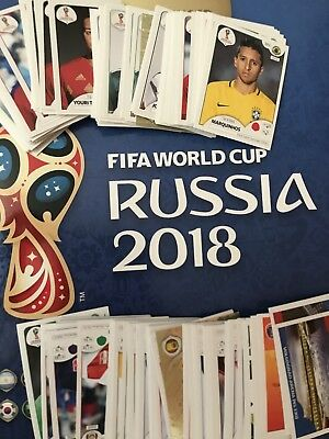 Panini World Cup 2018 Stickers Pick 10, 20, 30, 40, 50 From HUGE List