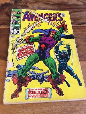 Silver Age The Avengers Comic # 52, 1968.
