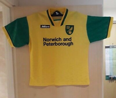 Norwich City FC. Home Football Shirt XL. Circa 1996/97. Mitre sponsorship