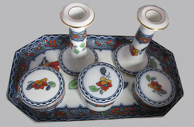 Beautiful Vintage Losol Ware Dressing Table Set