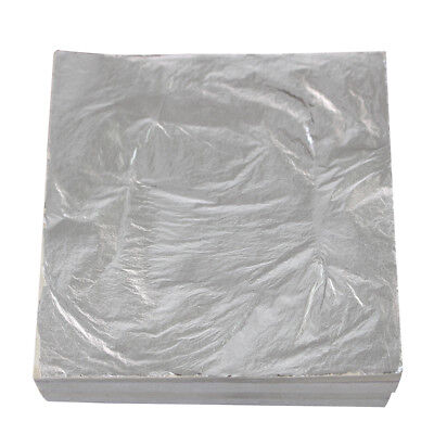 Edible / Decorative Silver Leaf Loose Sheets - 24 Carat - 6Cm X 6Cm - Pick Qty