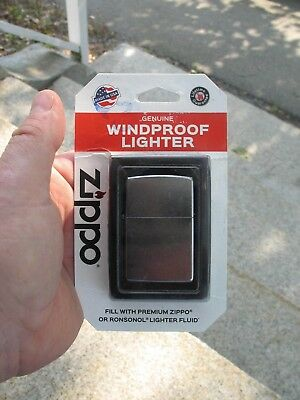 Zippo Genuine New In Packaging Windproof Chrome Lighter Made USA