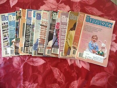 Vintage Lot of 15 The Workbasket and Home Arts Magazine Issues 1973 - 1990 Rare