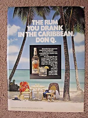 1973 Don Q Rum Full Page Color Ad