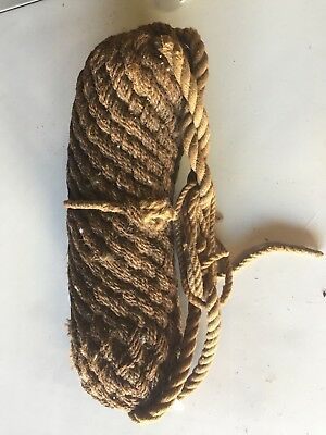 Antique Vintage Nautical Woven Rope Boat Bumper 1 Of 2