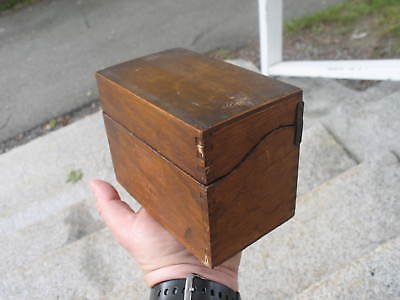 Vintage Dovetail Oak Recipe File Box