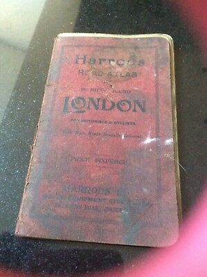 Harrods vintage Road Atlas of seventy miles aroundnLondon