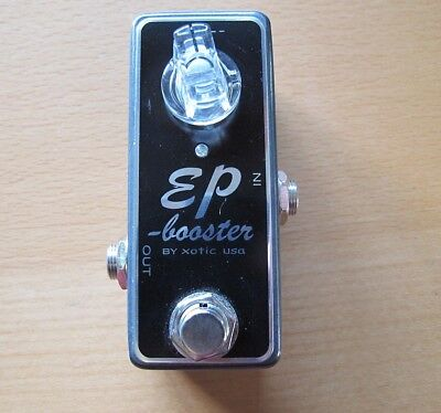 xotic ep booster pedal for guitar or bass , clean overdrive