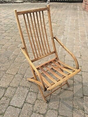 Vintage Field Birmingham Patent Folding Campaign Chair Restoration up-cycle