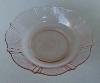 MacBETH EVANS - AMERICAN SWEETHEART - PINK DEPRESSION GLASS CEREAL BOWL