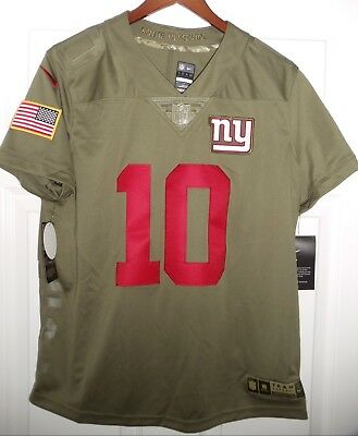 NWT Nike Salute To Service Eli Manning NY New York Giants Jersey Womens L  RARE! c7eb307d9