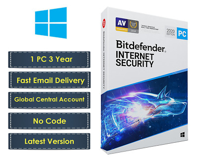 New Bitdefender Internet Security 2019 | Windows | 1PC 3 Years | 70% Offer price