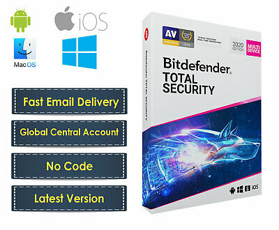 Bitdefender Total Security 2019 Latest Version (Central Account - No CODE) Email