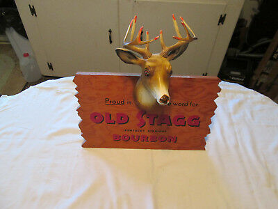 Old Stagg .kentucky Straight - Bourbon Whiskey...vintage Advertising Sign Rare