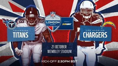 NFL London Game Titans vs. Chargers 2 Tickets