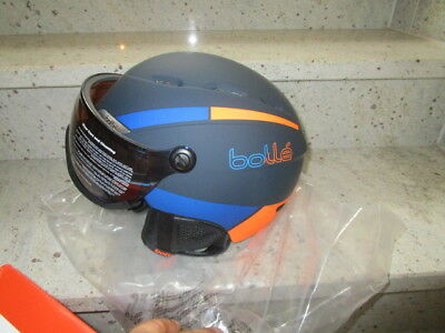 Bollé B-Yond Visor Skihelm navy/orange Visier Blue Aurora CAT 2 Gr.54-58cm
