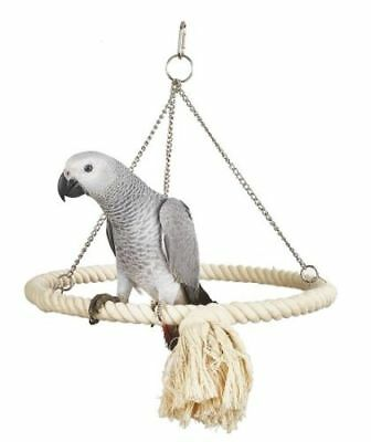Rope Ring Bird Parrot Toy Swing For African Greys, Macaws, Cockatoos etc 7613
