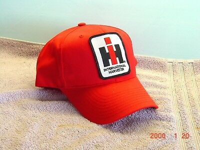 IH International Harvester Red Cap, new with patch