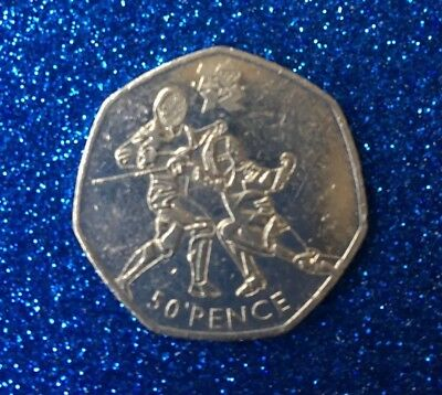 2011 Olympic 50P Coin Fencing