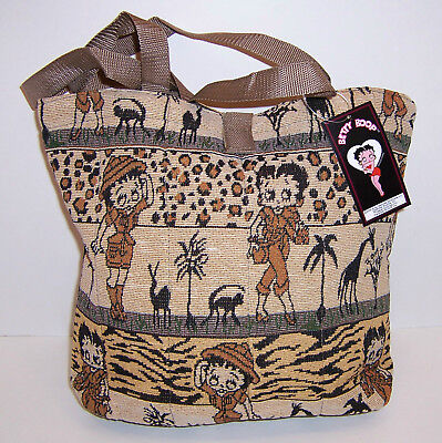 Licensed BETTY BOOP SAFARI Animal PRINT PURSE TOTE Shoulder BAG Handbag NEW!