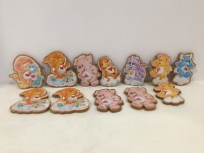 Vintage 1985 American Greetings Care Bears Cousins Wood Magnet Lot
