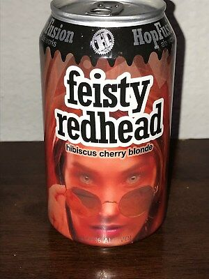Feisty Redhead Hibiscus Cherry Blonde Craft Brew Beer Can