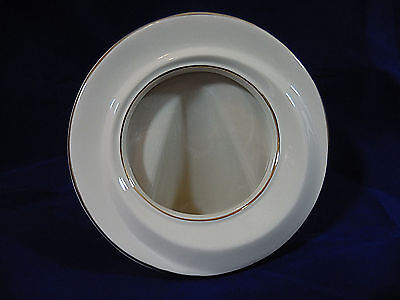 """Lenox 5"""" Round Picture Frame Ivory Gold Perfect Hand Painted"""