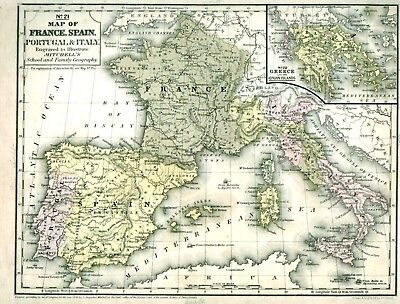 Augustus Mitchell Maps 1840 Europe South America Oceanica Lot of 6