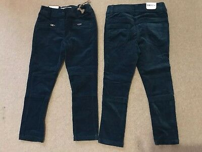 2 X NEXT Teal Suede/moleskin Type Trousers Girls Twins? Never Worn 5 Years