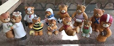 ENESCO Lucy and Me Bears Lot of 11 Figurines Mint Condition inc doctor, swimmer