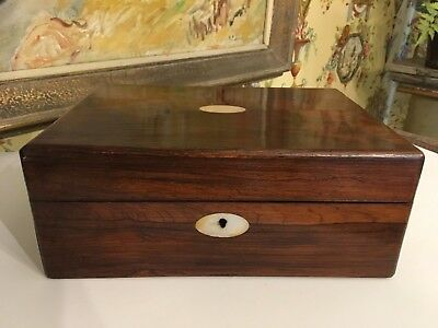 English Rosewood Victorian Sewing Notions Box