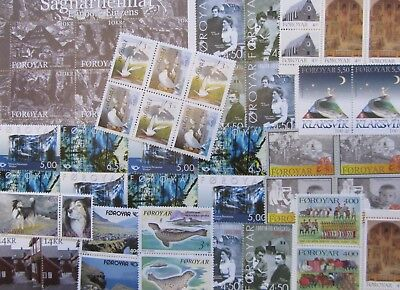 FAROE ISLANDS COLLECTION of MNH STAMPS 1991-2008 @ LESS THAN HALF FACE VALUE